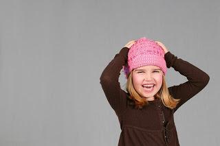 girl giggling